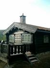 Terrasse av Imer laftehytte