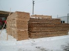 Stored pine wood boards