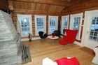 Set of windows in Laftehytte living rooms ensure enough light even in the winter time