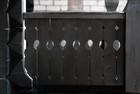 Design av terrasse rekkverk av laftet anneks