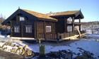 Tradisjonell laftehytte bygget i den sentrale delen av Norge