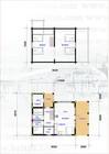 Plan av Jans stavlaft hytte.