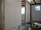 Stavlaft hytte. Montering av innvendige vegger
