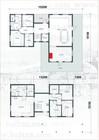 Plan av Tors stavlaft hytte.