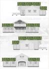 Plan av Beito laftehytte. Fasade (1)