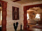 Interiør av Beito laftehytte