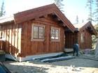 Fasade av Tors stavlaft hytte