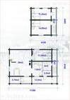Plan av Holmen laftehytte (2)