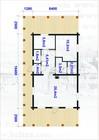 Plan av Uranostinden laftehytte.