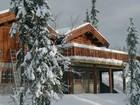 Terrace of Tors stavlaft hytte in winter