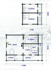 Internal plan of the Holmen laftehytte