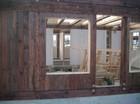 Inside window holes of Jans stavlaft hytte