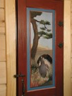 Painted internal doors of Bitihorn laftehytte