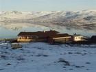 Torolmen hytte as it seen from the hills on its backside
