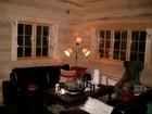 Living room of Kvilstoga laftehytte