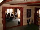 Hall of Beito laftehytte with aview to Beito dining room