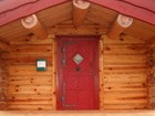 Inngangsdør av Steine laftet anneks