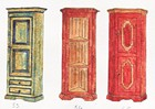Garderober designet for laftehytte eller stavlaft hytte
