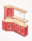Kjøkken møbler designet for laftehytte eller stavlaft hytte