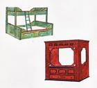 Soverom møbler designet for laftehytte eller stavlaft hytte