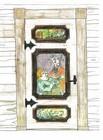 Dør malerier egnet for personlig utforming av laftehytte eller stavlaft hytte